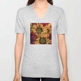 Country Sunflowers Unisex V-Neck