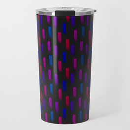 Neon Pink and Purple Pattern Travel Mug