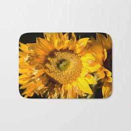 sunkissed sunflower Bath Mat
