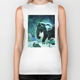 Galaxy Elephant of the Planet Pachyderm Biker Tank