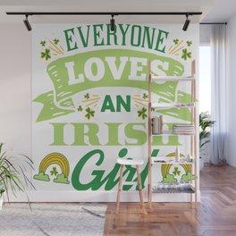 Cute St Patricks Day Irish Ireland Women Girl Gift Wall Mural