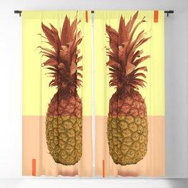 Pineapple Print - Tropical Decor - Botanical Print - Pineapple Wall Art - Beige, Peach - Minimal Blackout Curtain