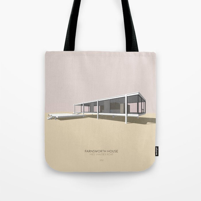 Farnsworth House Mies van der Rohe Tote Bag