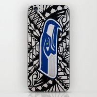 seahawks iPhone & iPod Skins featuring Seahawks poly style by Lonica Photography & Poly Designs