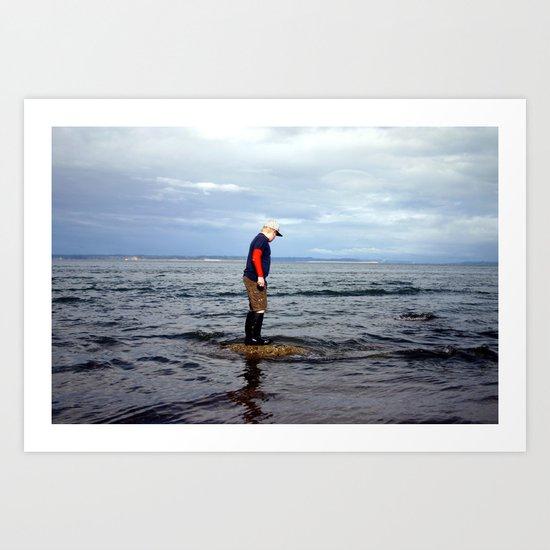 A boy and The Sea 2 Art Print