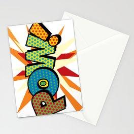 Comic Book Pop Art Sans POW! Stationery Cards