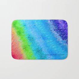 """""""Sign Painter Palette"""" Oil Painting Bath Mat"""