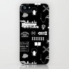 Railroad Symbols on Black iPhone Case