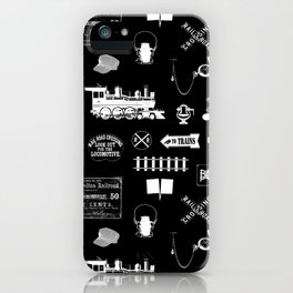 Railroad Symbols on Black iPhone Case