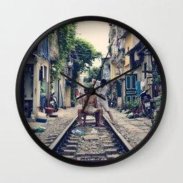 Hanoi Haircut Wall Clock