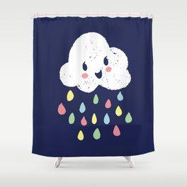 Rainbow Rain - Night Time Shower Curtain