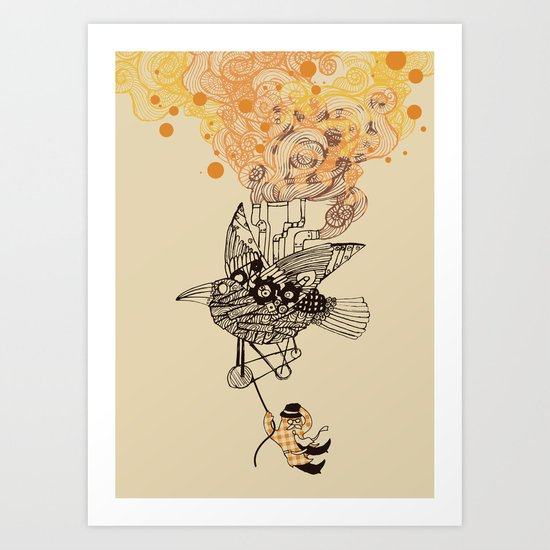 The wacky traveling machine Art Print