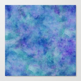 Bright Blue Watercolor Texture Canvas Print