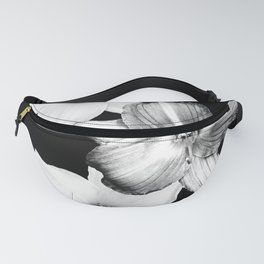 White Lilies on Black #1 #floral #decor #art #society6 Fanny Pack