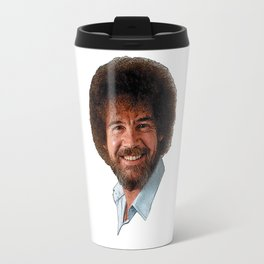 BOB ROSS PBS PAINT PAINTER PAINTING SHOW instruction relax chill Travel Mug