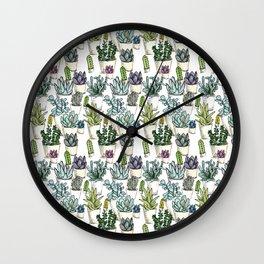 Tiny Cactus Succulents Cacti Wall Clock