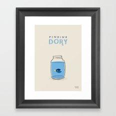 Finding Dory - movie poster Framed Art Print