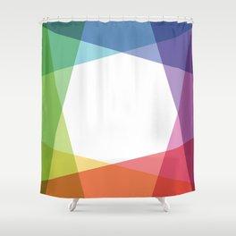 Fig. 001 Rainbow color Shower Curtain