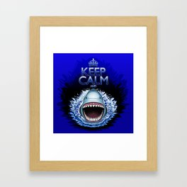 Keep Calm and...Shark Jaws Attack! Framed Art Print