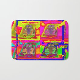 CRAZY NUT OLD CARS Bath Mat