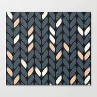 knitting Canvas Prints featuring Knitting by hank