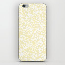 Small Spots - White and Blond Yellow iPhone Skin