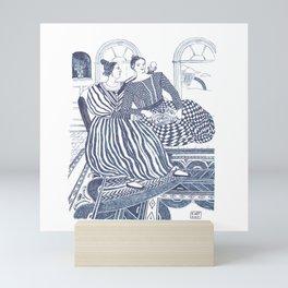 Ladies A-Courting Mini Art Print