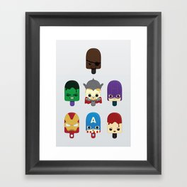 The Avengers: Earth's Mightiest Popsicles Framed Art Print