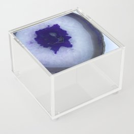 Deep Purple Agate Slice Acrylic Box