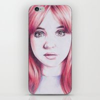 karen hallion iPhone & iPod Skins featuring karen ii by Jill Schell