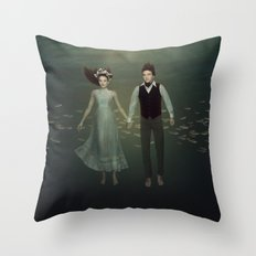 Underwater Couple Throw Pillow