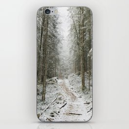 For now I am Winter - Landscape photography iPhone Skin
