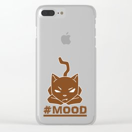 #MOOD Cat Brown Clear iPhone Case