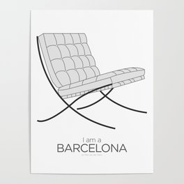 Chairs - A tribute to seats: I'm a Barcelona (poster) Poster