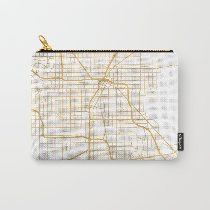 LAS VEGAS NEVADA CITY STREET MAP ART Carry-All Pouch