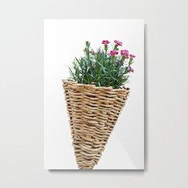flower in bloom in the hanging basket Metal Print