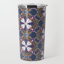 apache, tribal pattern in grey Travel Mug