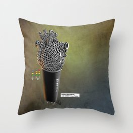 CRZN Dynamic Microphone - 003 Throw Pillow