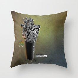 CRZN Dynamic Microphone - 003 Throw Pillow