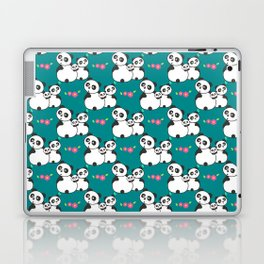 Panda family on meadow Laptop & iPad Skin