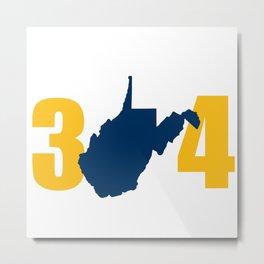 West Virginia 304 Mountaineers Metal Print