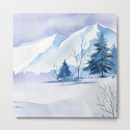 Winter scenery #2 Metal Print
