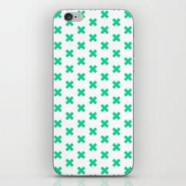 CROSS ((emerald green)) iPhone Skin