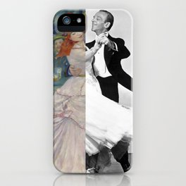 Renoir's Dance at Bougival & Fred Astaire (with Ginger Rogers) iPhone Case