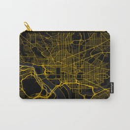 Washington DC City Map   Gold American City Street Map   United States Cities Maps Carry-All Pouch