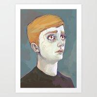 kieren walker Art Prints featuring Kieren Walker by meenie