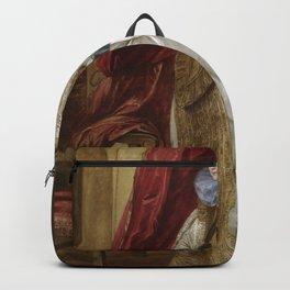 Anthony van Dyck - Portrait of a Genoese Noblewoman Backpack