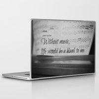 jane austen Laptop & iPad Skins featuring Music Jane Austen by KimberosePhotography