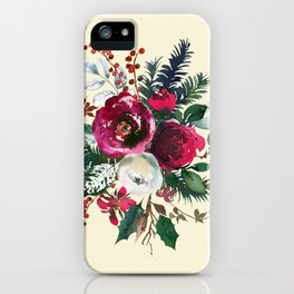 Christmas Winter Floral Bouquet No Text iPhone Case