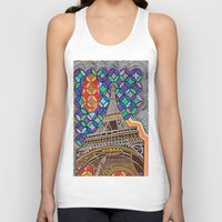 eiffel tower Tank Tops featuring Eiffel Tower by Art By Carob